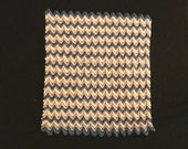 one inch scale crocheted   RIPPLE  AFGHAN