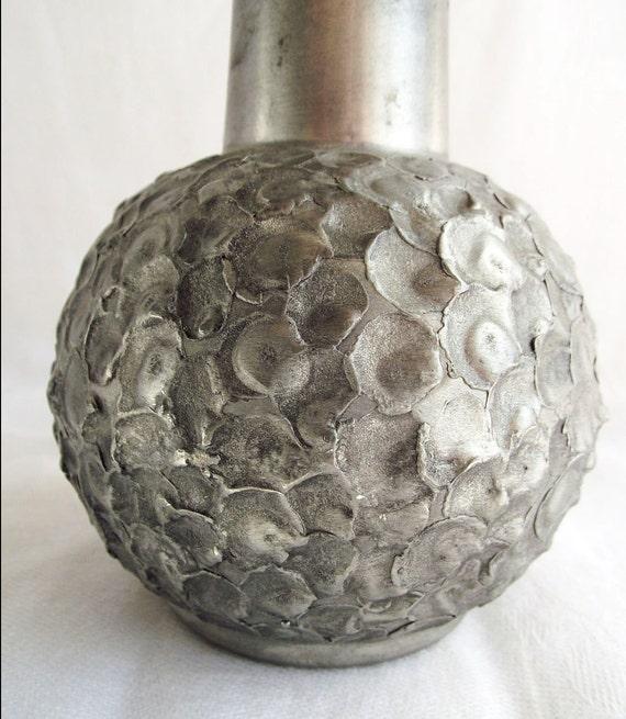 Vintage Perletinn Norway Pewter Bud Vase - RESERVED