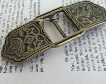 vintage inspired antique brass belt buckle