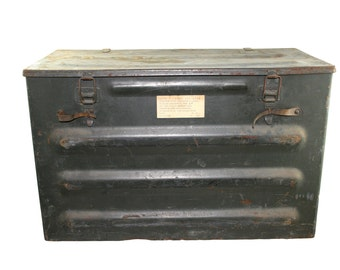 sale -  72 dollars vintage Swiss Metal Ammo Box