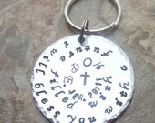Bible Verse Keychain, Jeremiah 29:11, Scripture Key Ring, First Communion Baptism Confirmation Gift, Sunday School Teacher Gift, Personalize