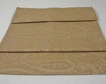 """TABLE RUNNER - Gold Embossed Swirl Pattern - 49"""" x 15-1/2"""" - Item TR232003"""