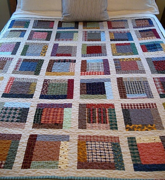 farmhouse / homespun nap quilt.....53x62.......echo quilt no. 34......ready to ship