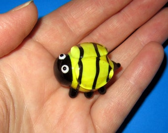Lampworked Glass Bee Figurine