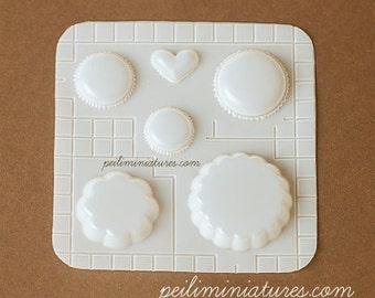 Miniature Food Mold - Macaron and Tart Mold - Air Dry Clay Mold