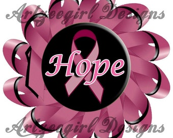 Hope, Breast Cancer Awareness, Mandala