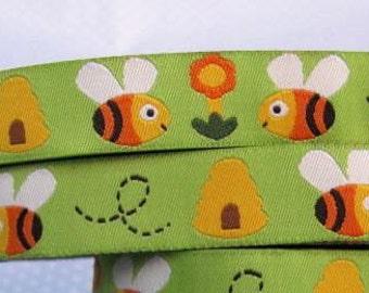 15mm x 1yard (bee) woven ribbon (S636)