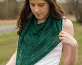 Slightly Purling Shawl PDF Knitting Pattern - a knit & purl triangle shawl