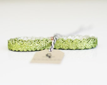 3 yards of Chartreuse green Ric-Rac trim ribbon 5/16""