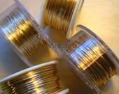 Gauge 20, 22, 24, 26 Gold Wire Art & Craft Jewelry Wrapping Etc Half Hard 4 Spool / 4Sizes