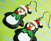 STORE CLOSING SALE Sparkly Penguin Earrings