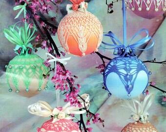 Vintage Crochet Pattern for Decorative Satin Balls