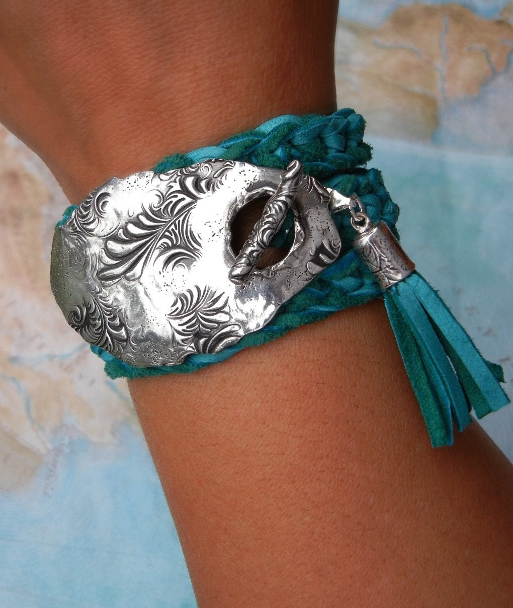 turquoise jewelry turquoise leather bracelet genuine. Black Bedroom Furniture Sets. Home Design Ideas