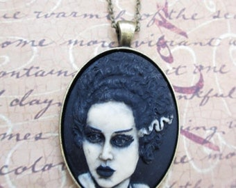The Bride of Frankenstein necklace