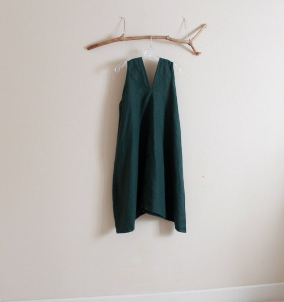 sale was 118.00 emerald linen sparrow tunic dress ready to ship