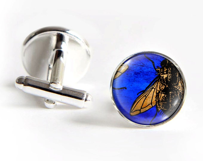 FLY Cufflinks silver 18mm cuff links Gifts for him