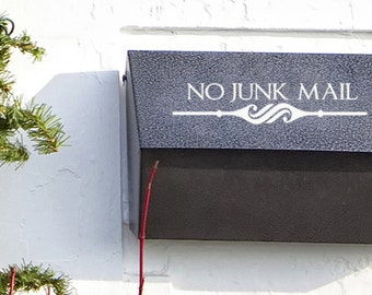 No junk Mail decal sticker for your mailbox home and office decor- Mailbox Decal - Office Sign