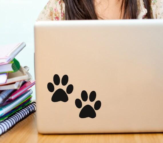 Pet Paw Print Vinyl Wall Decal, Cat prints, Dog Prints, Window Decals, Laptop Decals, Animal Tracks, Treat Jar Decals, Pet Gifts, Pet Owner