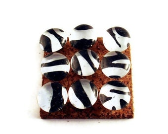 Decorative Push Pins Cork Board Pins in Zebra (P67)