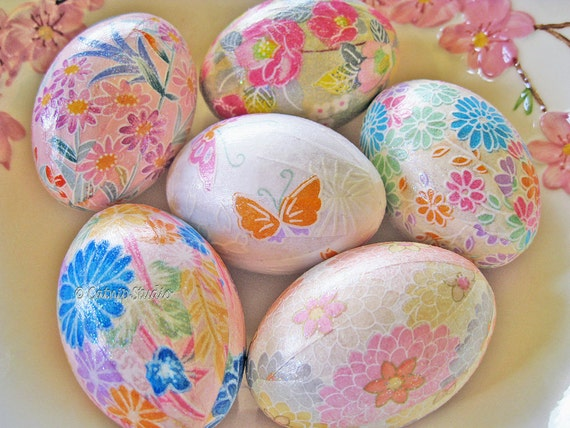 Decoupage Eggs Buy Decoupage Eggs Pink And
