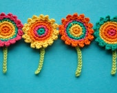 Crochet Flower Motifs - Rainbow Garden