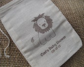 Personalized Lion Safari Zoo or Jungle Favor Bags Gift Bags or Candy Bags 4x6 - Set of 10 - Item 4M1062