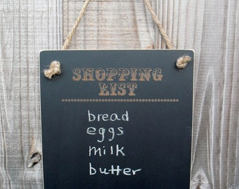 Chalkboard  - Hanging Shopping List Blackboard -  Item H1506