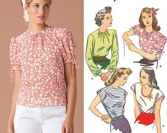 Vintage 1940s Blouse Pattern Simplicity 1692