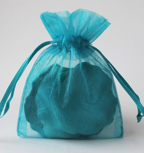 12 pack sheer organza drawstring bags 2 75 x 4 inch size