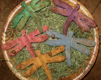 EPATTERN -- Primitive Dragonfly Tucks Ornies Bowl Fillers