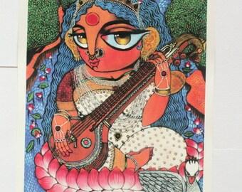 Maa Saraswati MAXI print