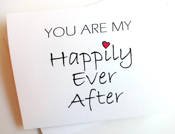 Items similar to You Are My Happily Ever After - Wedding ...