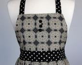 Eleanor - Black lace Full Apron