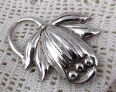 Vintage Sterling Silver Flower Pin - Circa 1930s - 10 grams