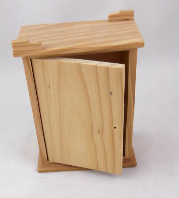 Small Unfinished Wooden Cabinet with Shelf No.2 Second