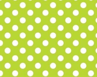 Riley Blake Designs, Medium Dots in Lime (C360 32)