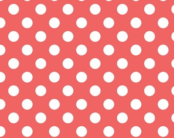 Riley Blake Designs, Medium Dots in Rouge (C360 79)