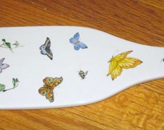 Butterfly Ceramic Wine Bottle Cheese Serving Dish