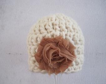 Baby Girl Hat, Newborn Girl Hat, Infant Girl Hat, Baby Girl Photo Prop, Crochet Baby Hat, Newborn Hat, Hat for Baby Girl, Baby Hospital Hat