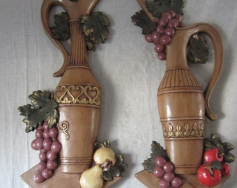 Decorative Wine Pitcher Jar Wall Decor Plaques Shop Decor Bar Wine Cellar Wine Shop Pair Pub / Party / Wedding Decor