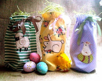 APPLIQUE EASTER BAGS Machine embroidery Designs