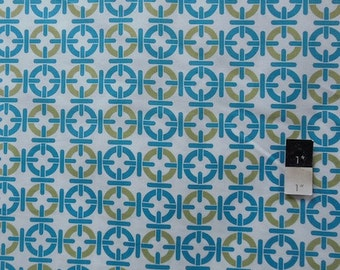 Annette Tatum AT55 Mod Chainlink Teal Cotton Fabric 1 Yd