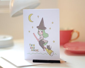 You Are Magic - Illustrated Greeting Card by Mel Stringer