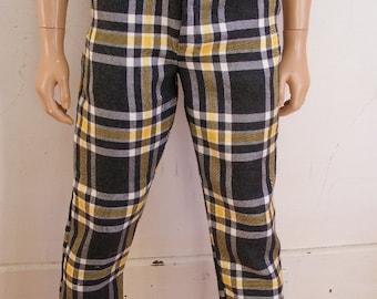 """Hermans ECO Repurposed Steampunk Plaid wool pants  30"""" by 31L"""