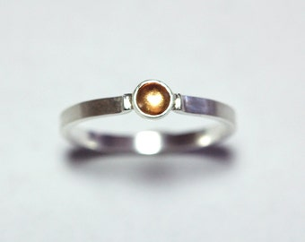 Yellow Sapphire Ring in Sterling Size 7 3/4
