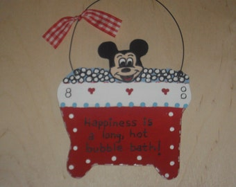 Mickey Mouse Bathroom Wall Hanging
