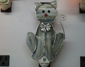 """Cat NLs - 3 Styles - Kitty Stained Glass Night Lights - """"Custom Order"""" Cat Stained Glass Nightlights"""
