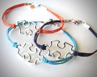 Puzzle piece bracelet bracelet sterling puzzle bracelet