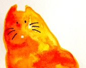 Cat  ACEO  Watercolor  Original Miniature  Painting by bdbworld on Etsy  No 61