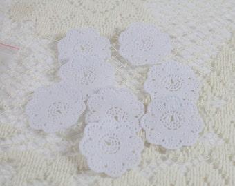 Mini White Paper Doilies - Set of 12